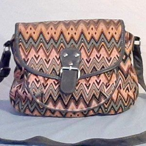 Chateau Vintage Cotton Tribal Pattern Purse Boho